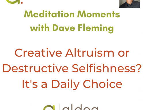 Creative Altruism or Destructive Selfishness? It's a Daily Choice